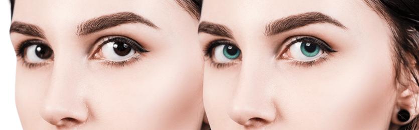 Druhy barevných kontaktních čoček