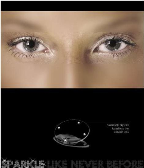 swarovski - kontaktní čočky