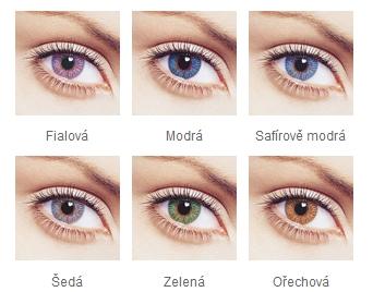 FreshLook Colors - barvevné varianty