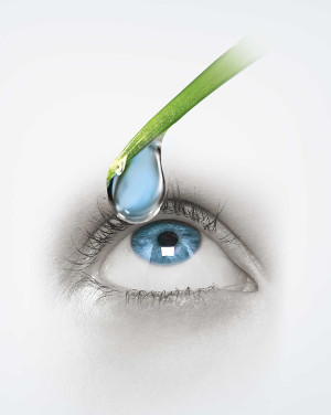 kapka a lidské oko