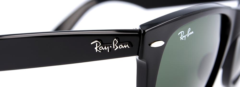 Logo na stranicích Ray-Ban