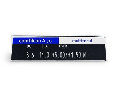 Náhled parametrů čoček - Biofinity Multifocal (3čočky)