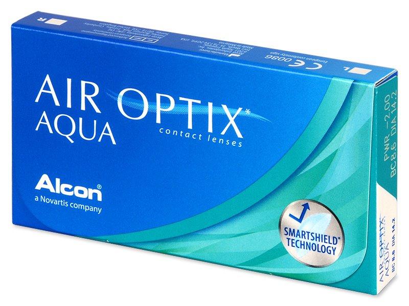 Měsíční kontaktní čočky - Air Optix Aqua (3čočky)