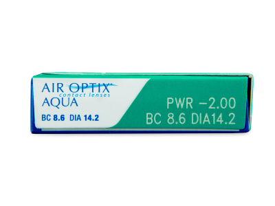 Air Optix Aqua (3čočky) - Náhled parametrů čoček