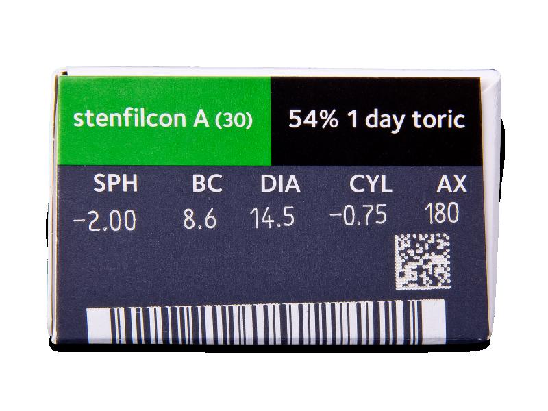 MyDay daily disposable toric (30 čoček) - Náhled parametrů čoček