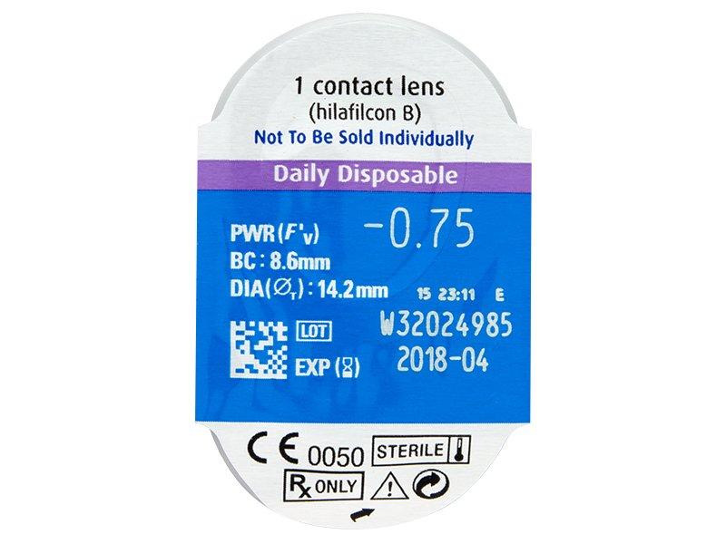 Vzhled blistru s čočkou - SofLens Daily Disposable (90čoček)
