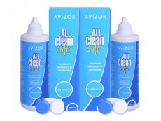 Roztoky na kontaktní čočky - Roztok Avizor All Clean Soft 2x350 ml