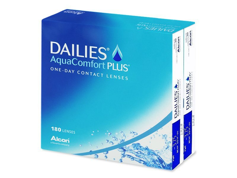 Dailies AquaComfort Plus (180čoček) - Jednodenní kontaktní čočky - Alcon