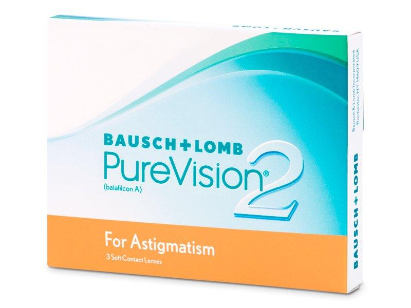 Torické kontaktní čočky - PureVision 2 for Astigmatism (3čočky)