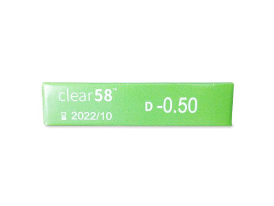 Clear 58 (6čoček) - Náhled parametrů čoček