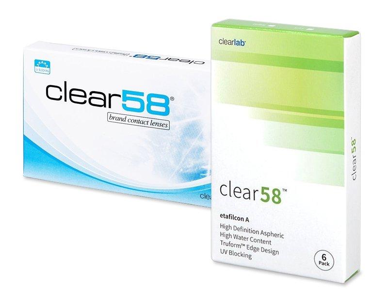 Clear 58 (6čoček) - Čtrnáctidenní kontaktní čočky - ClearLab