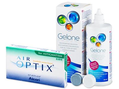 Air Optix for Astigmatism (6 čoček) +roztokGelone360ml - Předchozí design
