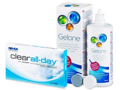 Clear All-Day (6 čoček) +roztokGelone360ml - Výhodný balíček