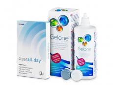 Výhodné balíčky kontaktních čoček - Clear All-Day (6 čoček) +roztokGelone360ml