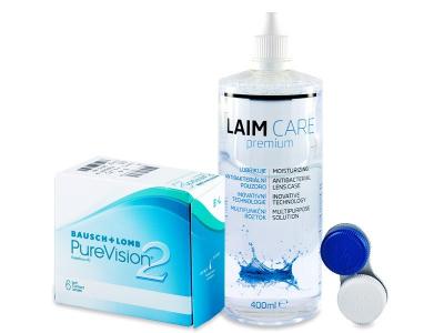 PureVision 2 (6 čoček) +roztokLaim-Care400ml