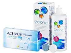 Výhodné balíčky kontaktních čoček - Acuvue Advance PLUS (6čoček) +roztokGelone360ml