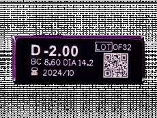 TopVue Elite+ (10 čoček) - Náhled parametrů čoček