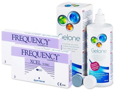 FREQUENCY XCEL TORIC XR (2x3 čočky) +roztokGelone360ml