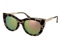 Sluneční brýle - Sluneční brýle Alensa Cat Eye Havana Pink Mirror