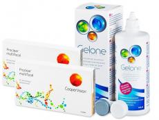 Výhodné balíčky kontaktních čoček - Proclear Multifocal XR (2x3 čočky) +roztokGelone360ml