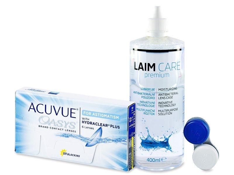Acuvue Oasys for Astigmatism (6 čoček) +Laim-Care400ml - Výhodný balíček