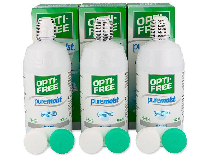 Roztok Opti-Free PureMoist 3 x 300 ml