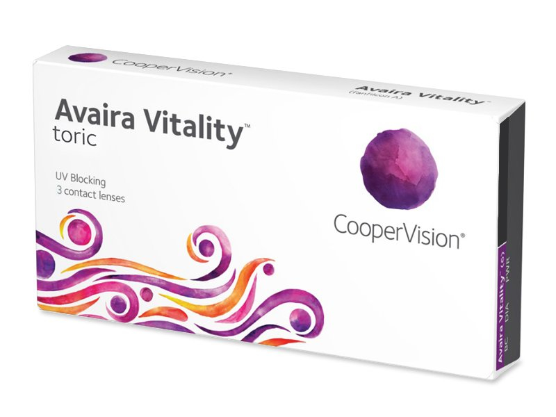 Torické kontaktní čočky - Avaira Vitality Toric (3 čočky)
