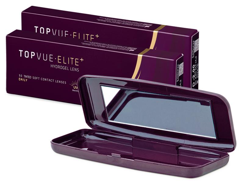 TopVue Elite+ (10 párů čoček) + cestovní pouzdro TopVue Elite