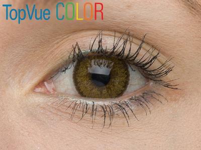 VÝPRODEJ: TopVue Color - dioptrické (2čočky) - Barva Hazel na hnědém oku