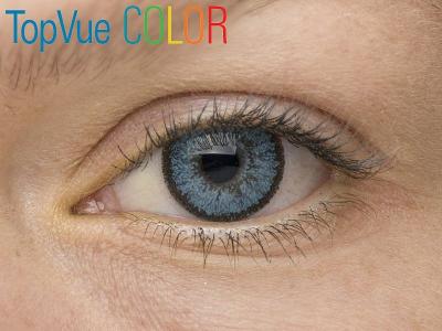 VÝPRODEJ: TopVue Color - dioptrické (2čočky) - Blue na modrém oku
