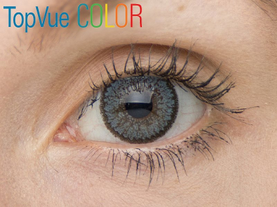 VÝPRODEJ: TopVue Color - dioptrické (2čočky) - Blue na hnědém oku