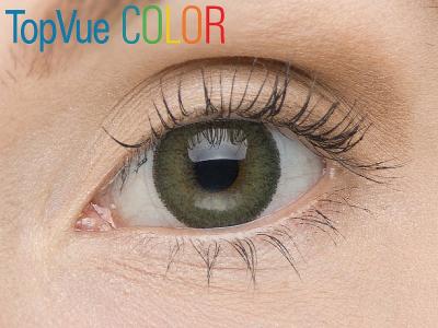 VÝPRODEJ: TopVue Color - dioptrické (2čočky) - Green na hnědém oku