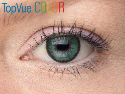 VÝPRODEJ: TopVue Color - dioptrické (2čočky) - Green na modrém oku