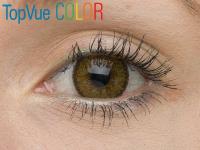 TopVue Color - nedioptrické (2čočky) - Barva Hazel na hnědém oku