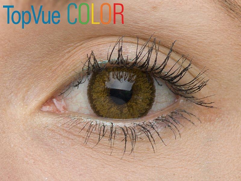 Barva Hazel na hnědém oku