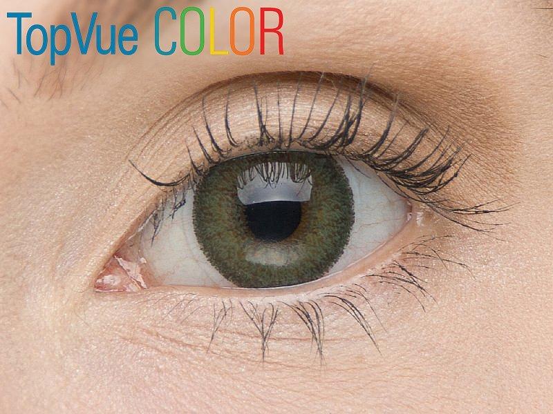 Barva Green na hnědém oku