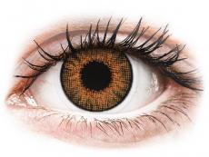 Hnědé kontaktní čočky - dioptrické - Air Optix Colors - Honey - dioptrické (2čočky)