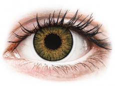 Měsíční kontaktní čočky - Air Optix Colors - Pure Hazel - dioptrické (2čočky)