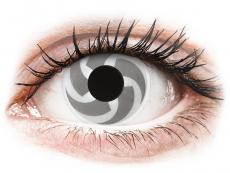 Bílé kontaktní čočky - nedioptrické - ColourVUE Crazy Lens - Blade - nedioptrické (2čočky)