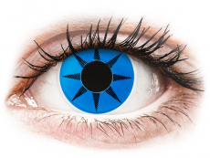 Barevné kontaktní čočky - ColourVUE Crazy Lens - Blue Star - nedioptrické (2čočky)