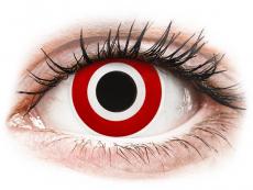 Červené kontaktní čočky - nedioptrické - ColourVUE Crazy Lens - Bulls Eye - nedioptrické (2čočky)