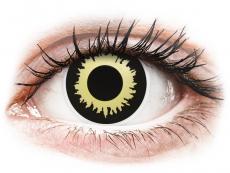 Černé kontaktní čočky - nedioptrické - ColourVUE Crazy Lens - Eclipse - nedioptrické (2čočky)