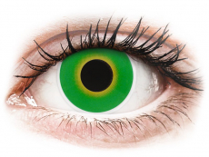 Crazy kontaktní čočky - nedioptrické - ColourVUE Crazy Lens - Hulk Green - nedioptrické (2čočky)