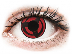 Černé kontaktní čočky - nedioptrické - ColourVUE Crazy Lens - Kakashi - nedioptrické (2čočky)