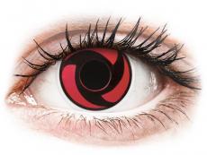 Červené kontaktní čočky - nedioptrické - ColourVUE Crazy Lens - Mangekyu - nedioptrické (2čočky)