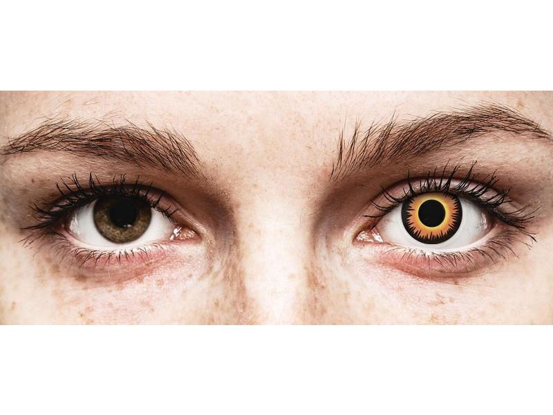 ColourVUE Crazy Lens - Orange Werewolf - nedioptrické (2čočky)