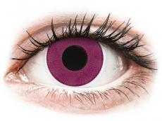 Barevné kontaktní čočky - ColourVUE Crazy Lens - Purple - nedioptrické (2čočky)