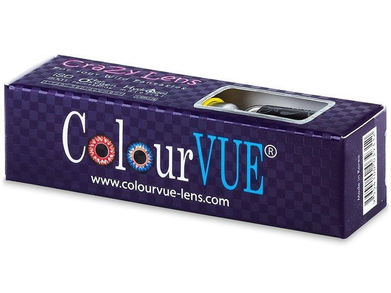 ColourVUE Crazy Lens - Red Devil - nedioptrické (2čočky)