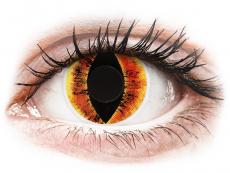 Barevné kontaktní čočky - ColourVUE Crazy Lens - Saurons Eye - nedioptrické (2čočky)