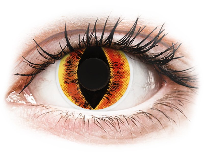 ColourVUE Crazy Lens - Saurons Eye - nedioptrické (2čočky) - Maxvue Vision